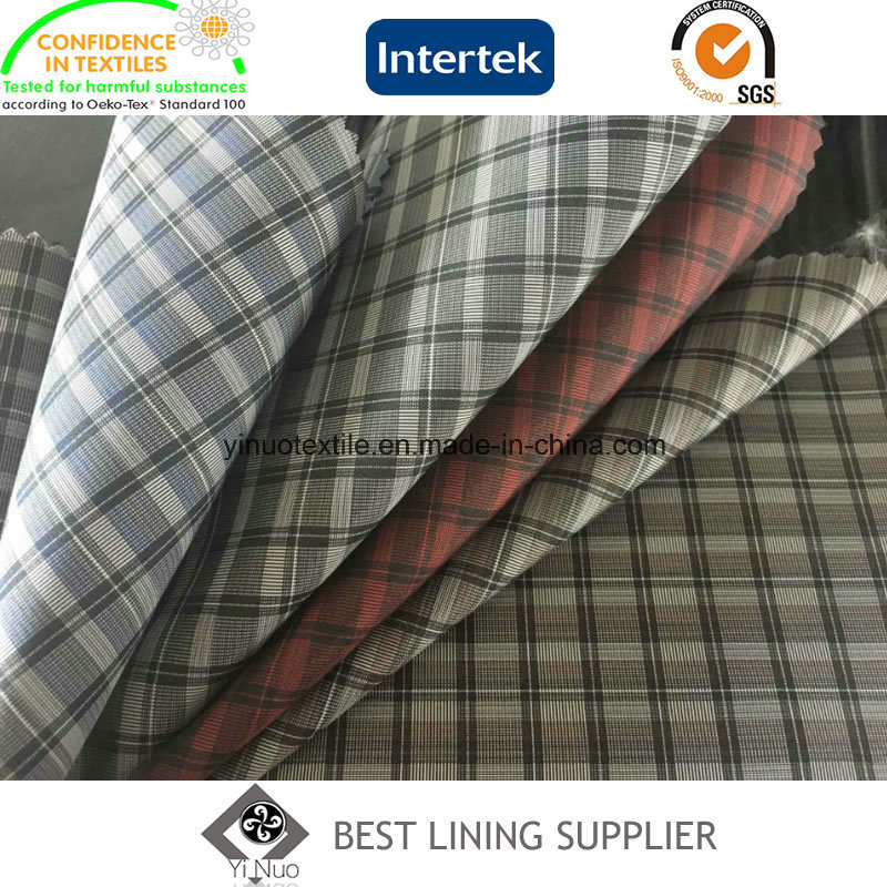 Plaid Patterned Men′s Suit Jacket Liner Lining Fabric China Supplier