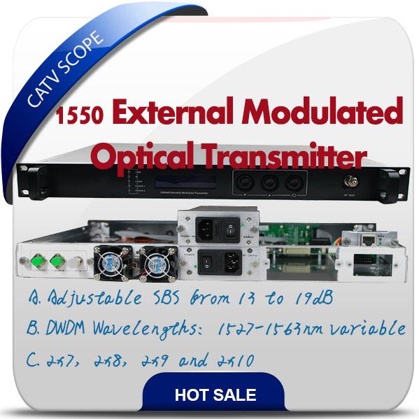 Hfc Network 1550nm Fiber Optical Transmitter Externally Modulated Transmitter