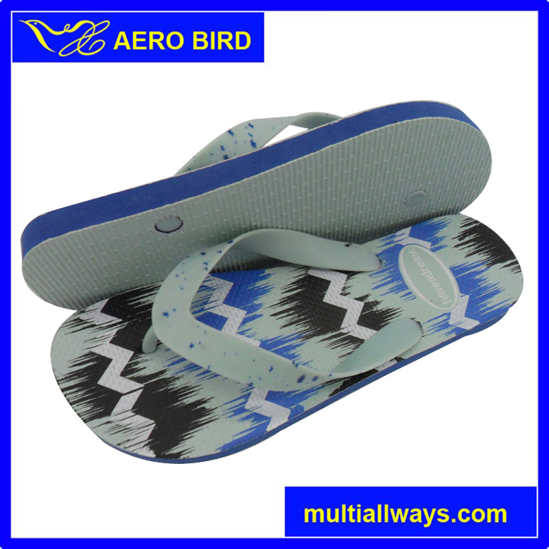 Man PE Flip Flop with New Design Strap (T1632)