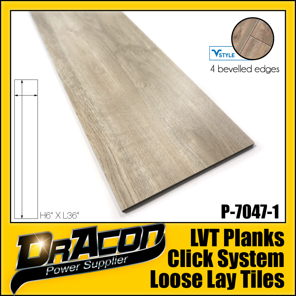 Fashion Design Loose Lay Tile Vinyl Plank (P-7047)