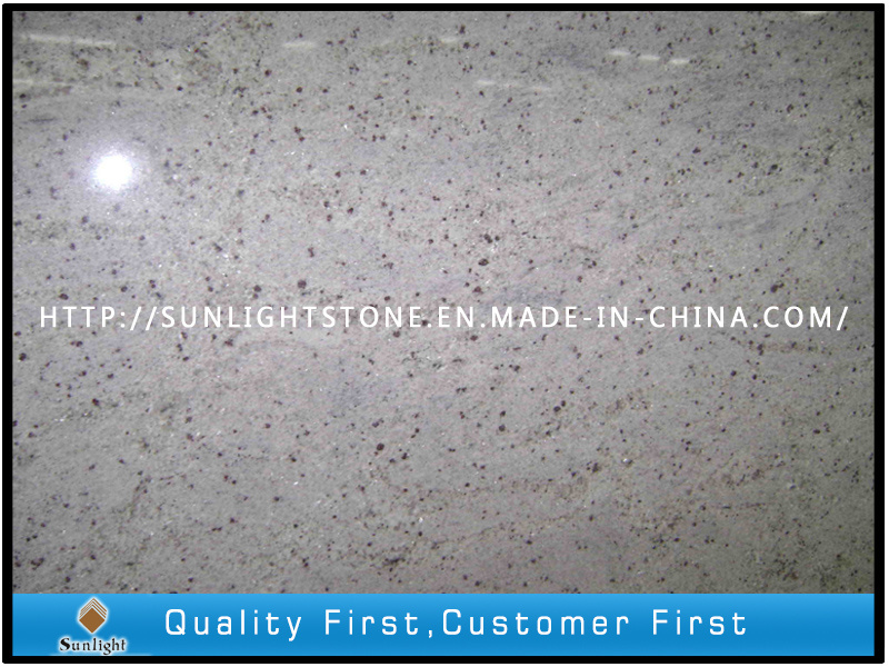 Natural Polished Kashmir White Granite for Kitchen Countertop, Bathroom Vanity Top