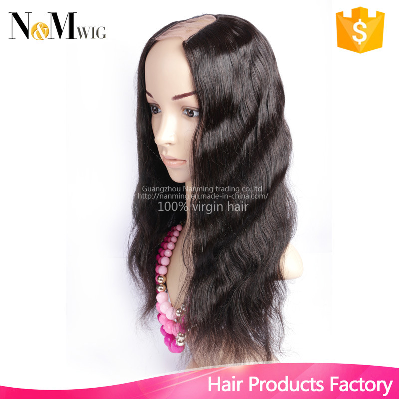 U Shaped Human Hair Wig Indian Lace Front Human Hair Wigs Upart Wig Bleached Knots Sew in Wigs