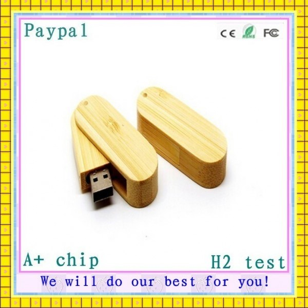 Full Capacity High Quality Bamboo USB Drives