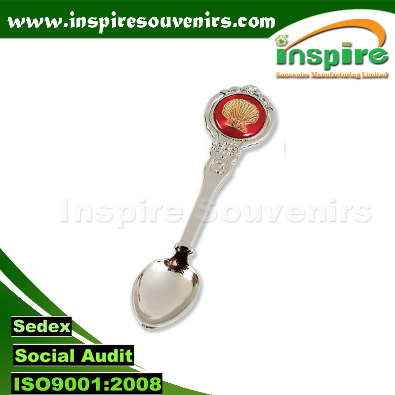 Customized Florida Souvenir Shiny Silver Plated Metal Spoon