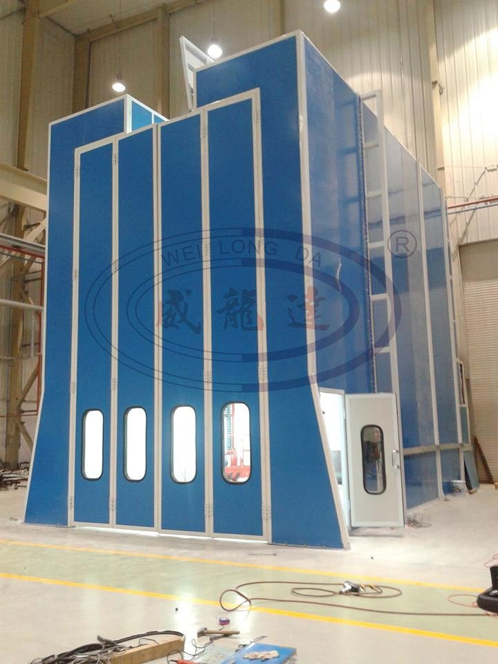 Wld-RS Industrial Transformer Roof Slot Roof Open Spray Painting Booth with 3D Lifter