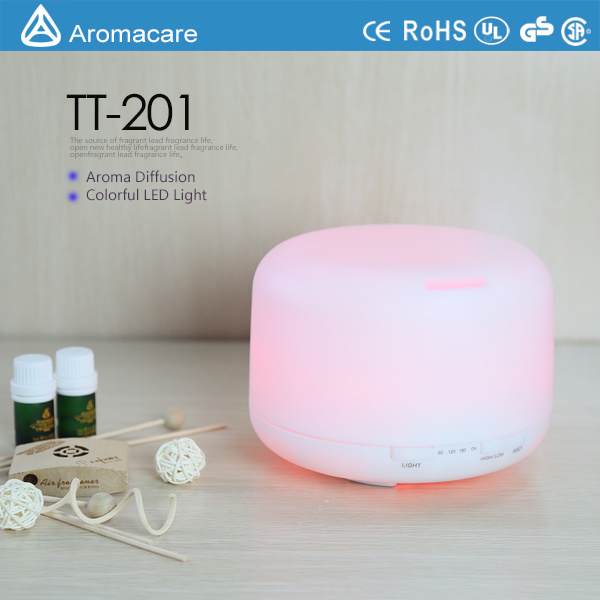 500ml Aroma Oil Diffuser with 4 Timer Settings 7 LED Color Changing Lamps