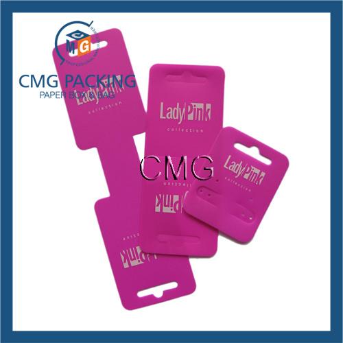 Customized Black PVC Plastic Jewelry Display Card (CMG-035)
