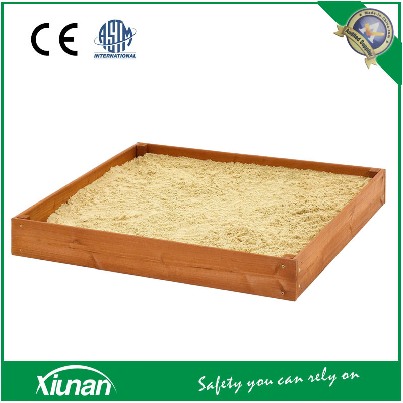 Economical Compact Wooden Sandpit and Sandbox for Small Children