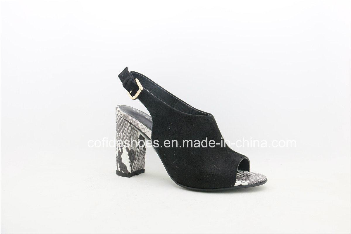 17ss European Hot-Sale Chunky Comfort Heels Women Sandal
