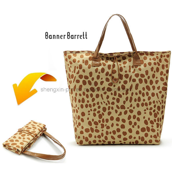 Foldable Polyester Shopping Bag with Full Color Printing