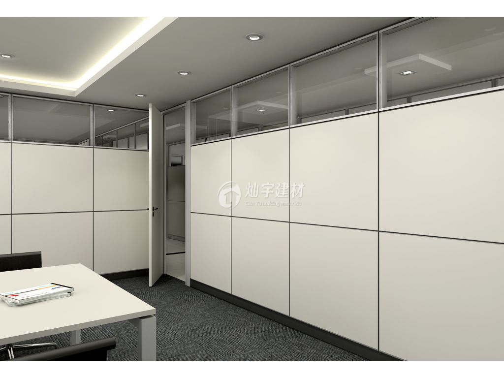Custom Workshop Office Partition Aluminium Wall Easy Soundpfoof Curtains