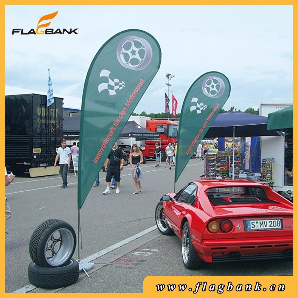 Outdoor Advertising Aluninium Digital Printing Custom Windfly Flags