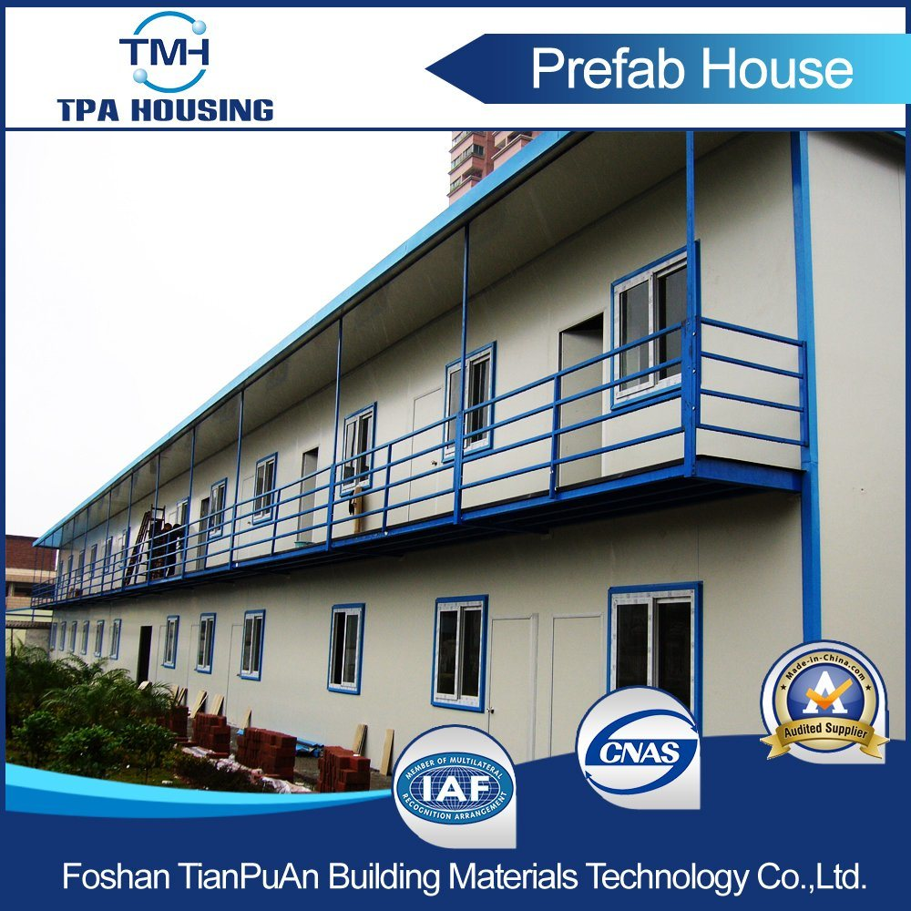 2 Floors Flat Roof Prefabricated Modern Modular House for Labor Camp