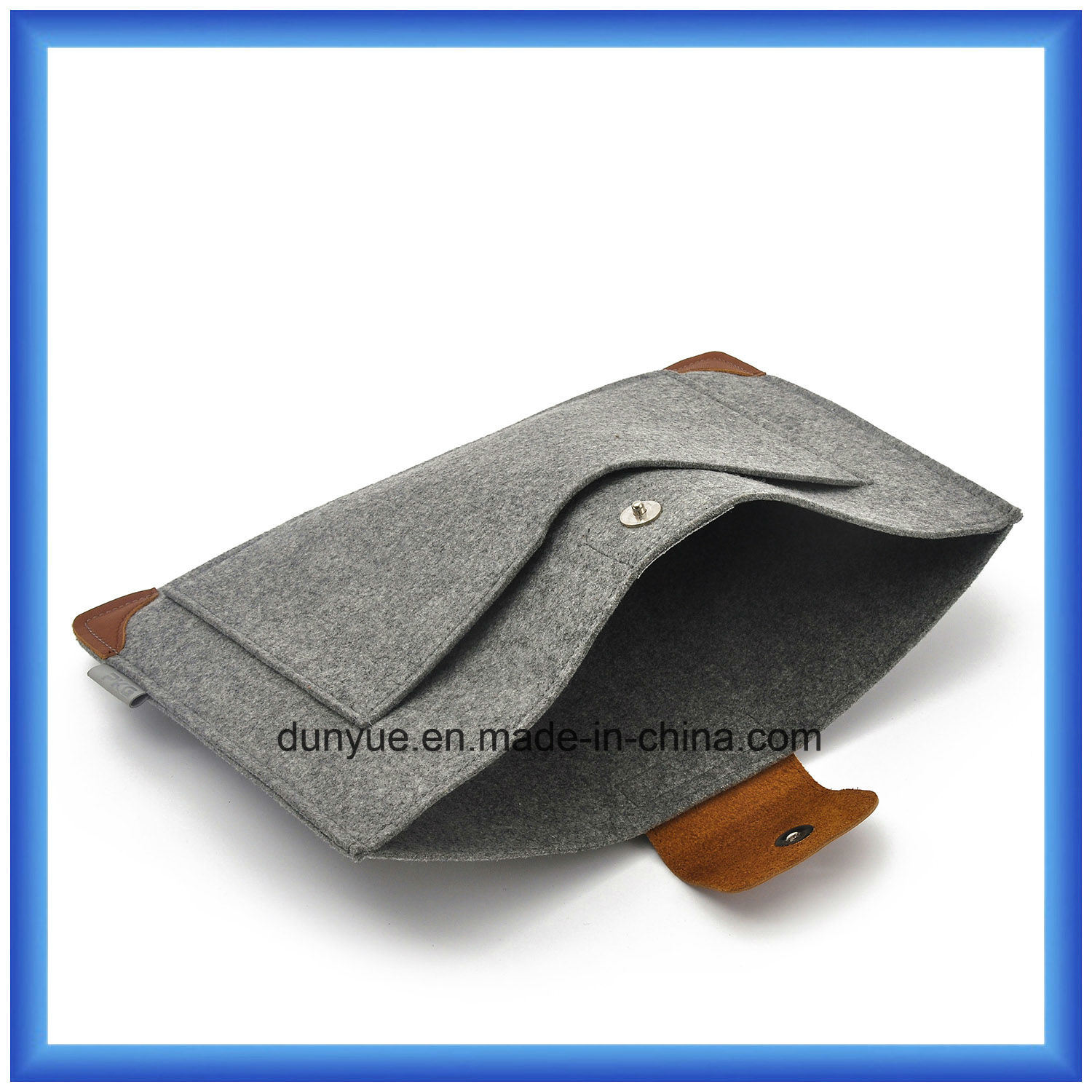 """New Promotional Wool Felt+ Genuine Leather Laptop Sleeve with Mouse Bag for Apple MacBook Air PRO, PRO Retina 13.3"""""""