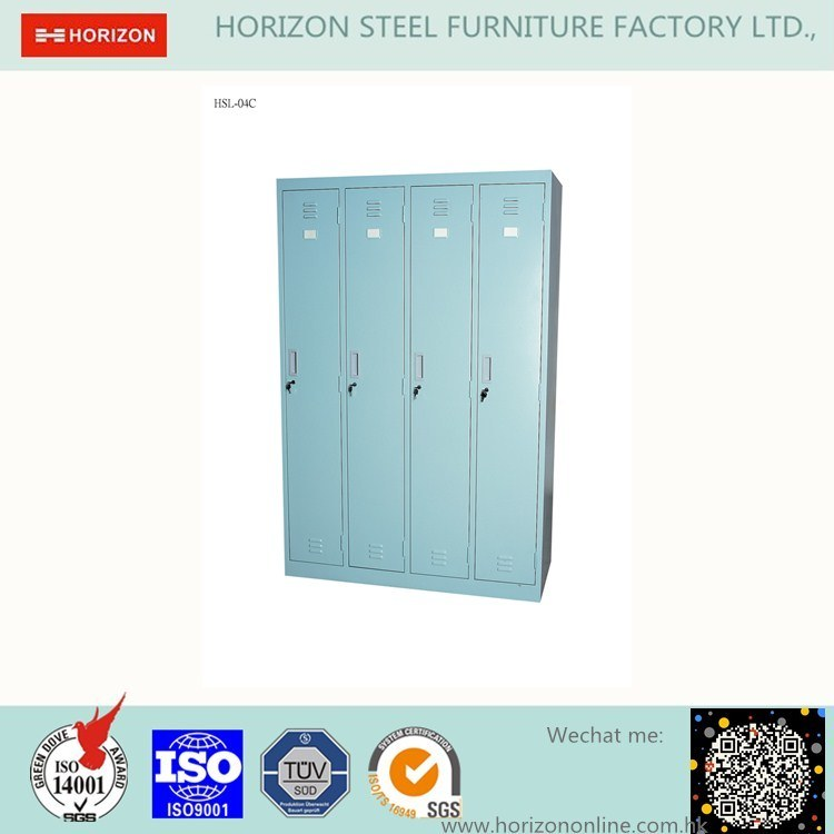 4 Doors Vertical Locker Office Furniture with Epoxy Powder Coating and Replaceable Cam Lock/Storage Cabinet