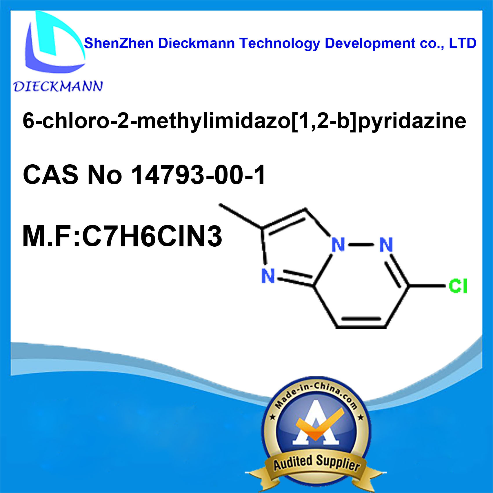 6-Chloro-2-Methylimidazo[1, 2-B]Pyridazine CAS No 14793-00-1