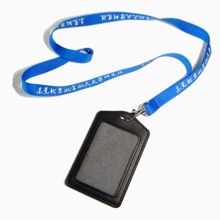 Customized Logo Nylon/Polyester/Silk Printed Custom Lanyard with ID Badge Holder