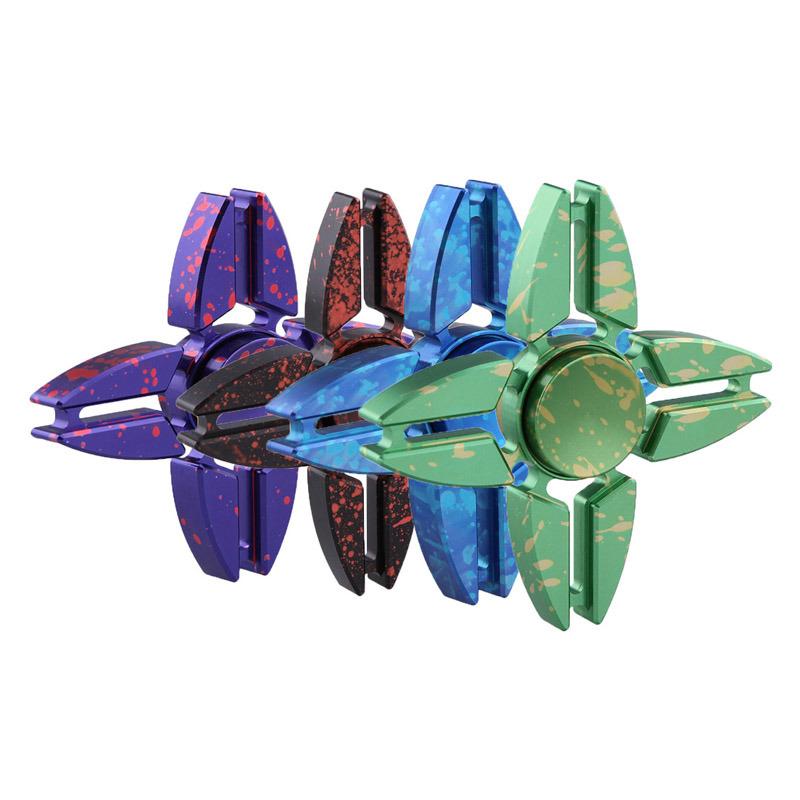 Crab Star Rotation Long Fidget Metal Kids Adults Anti Stress Toy Fidget Spinner