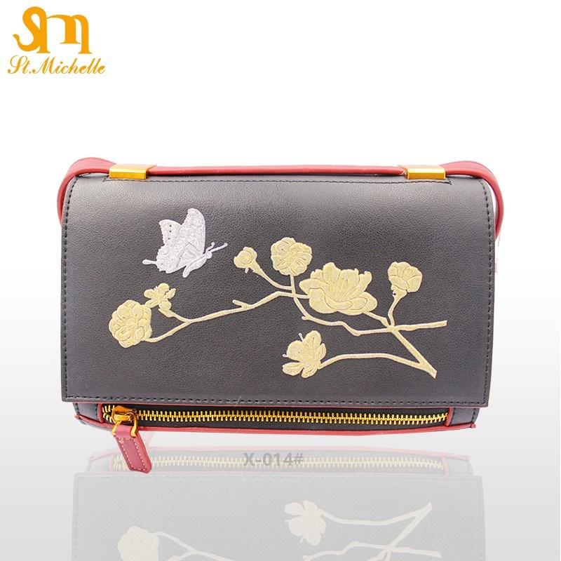 Fashion Women Handbags with Flower Pattern