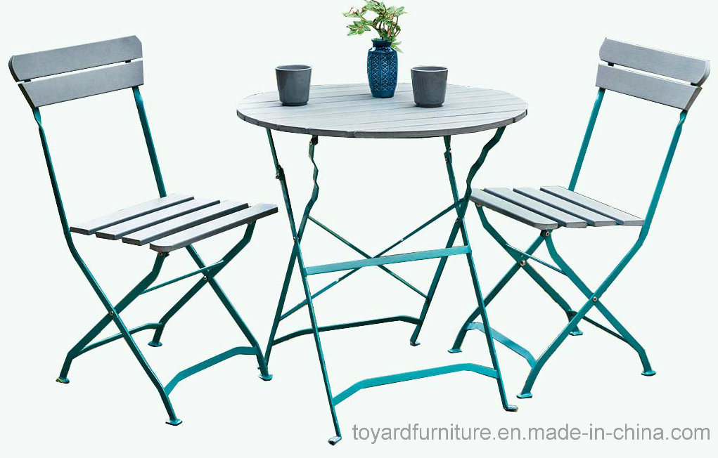 Classic Popular Cheap Outdoor Patio Restaurant Furniture Garden Metal Folding Table and Chairs