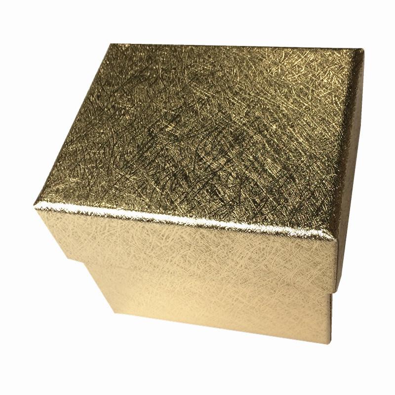 Golden Textured Paper Watch Display/ Gift Box