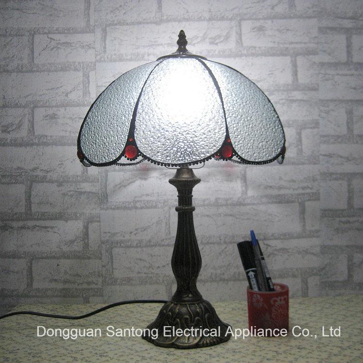 LED Tiffany Table Lamp Transparent Glass