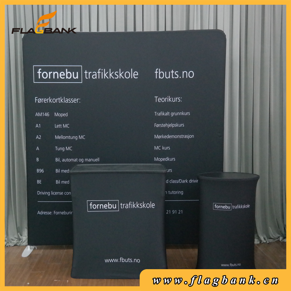 Portable Tension Fabric Banner Stand with Single Side Printing
