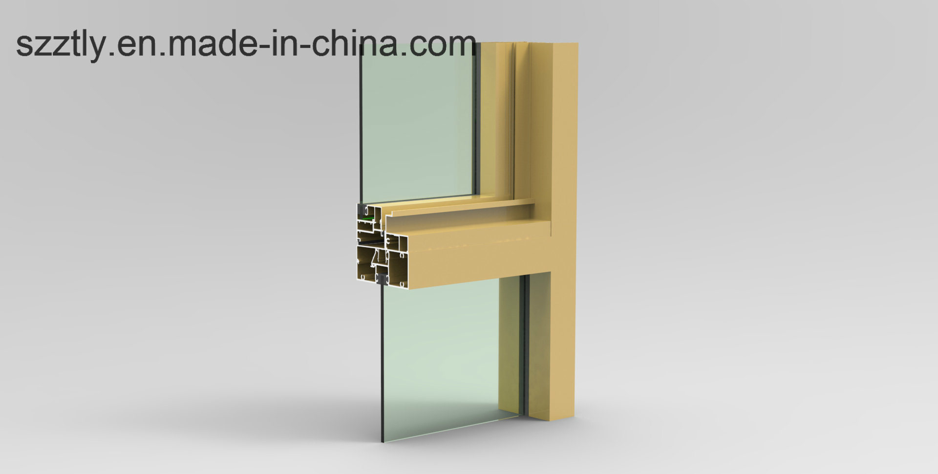 Aluminum Extrusion Alloy Windows/Doors/Fence/Tent Parts Profile