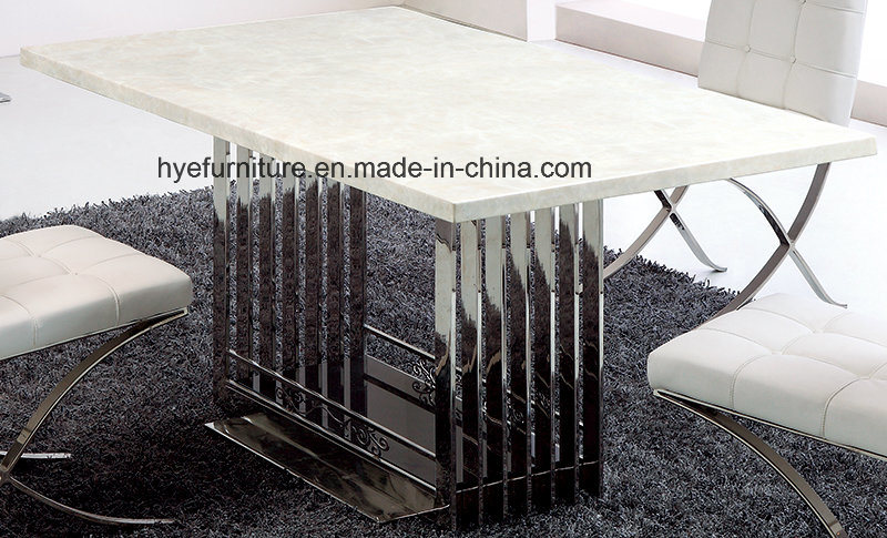 Marble Dining Table Dining Room Furniture Table (MS110)