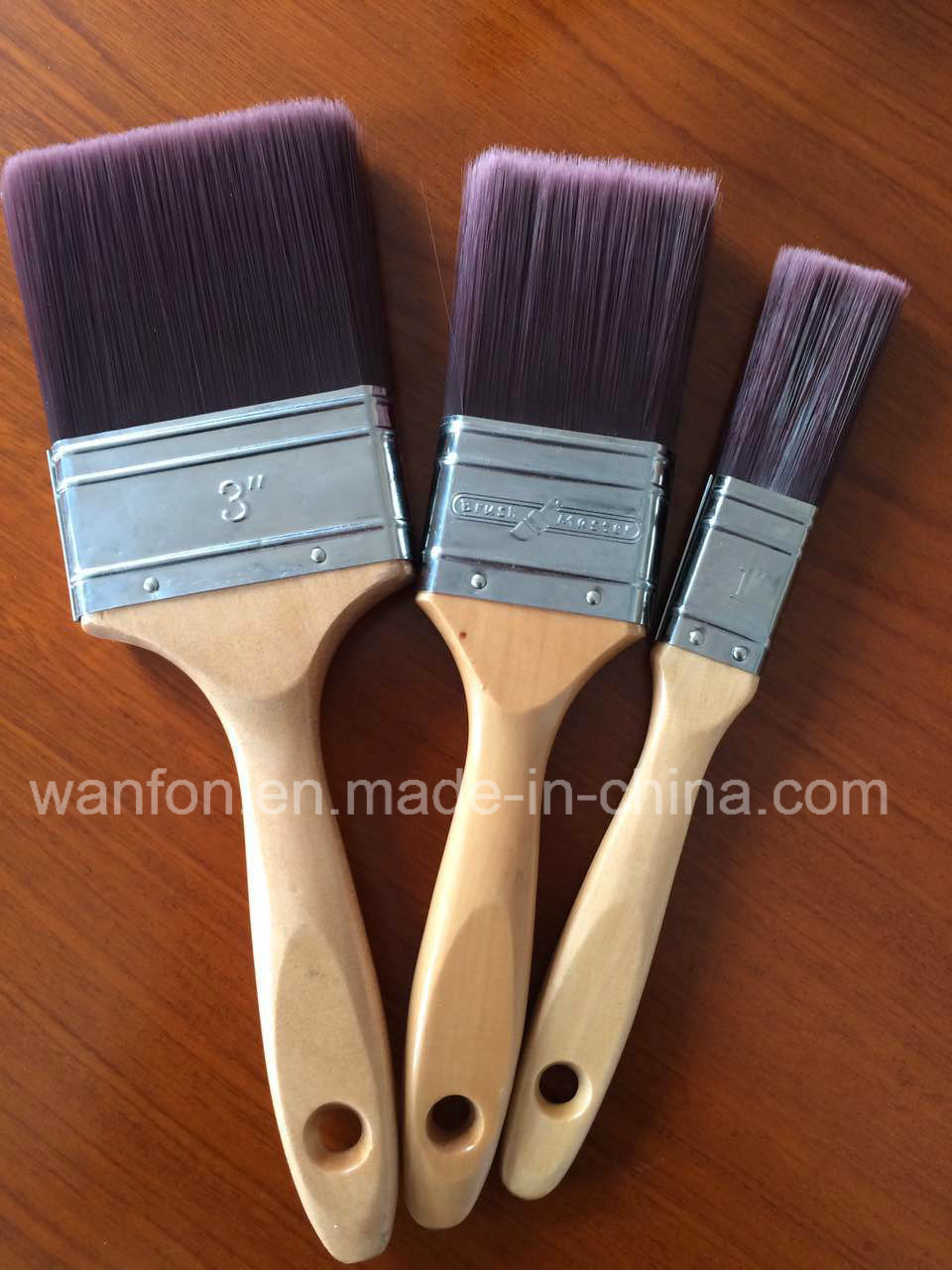 Synthetic Tapered Filament Paint Brush with Beech Wooden Handle