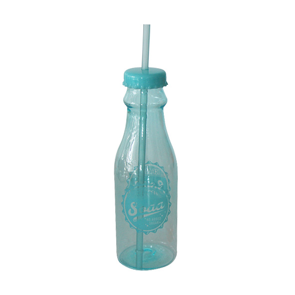 Pop Soda Bottle with Straw