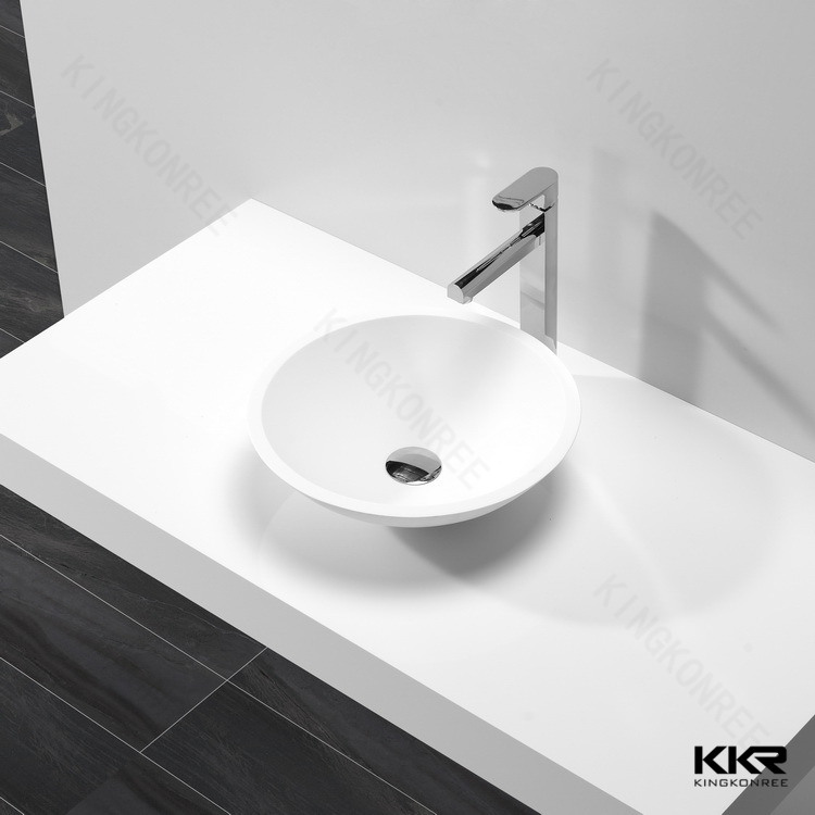 Sanitary Ware Resin Stone Solid Surface Bathroom Wash Basin (B170808)