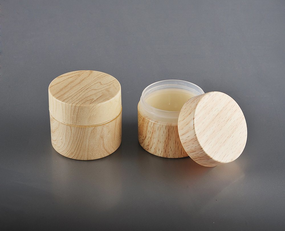 50ml Wooden Body Care Hair Gel Cosmetic Jar