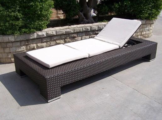 Garden Rattan/Wicker Sun Lounger for Outdoor Furniture (LN-103)
