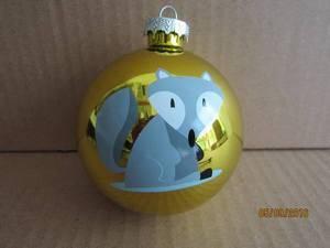 Glass Pyriform Hang Decoration for Christmas