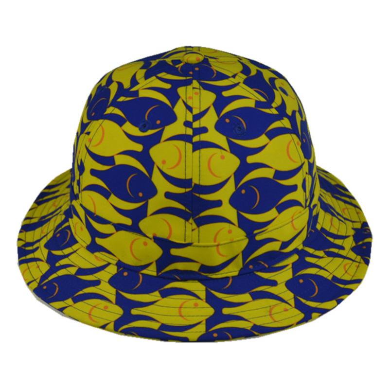 Custom Cap Floral Polyester Bucket Hat Fishing Cap