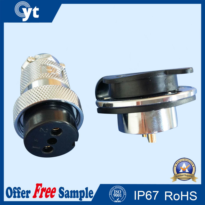 M19 24 AMP Circular 2pin Waterproof Cable Connector