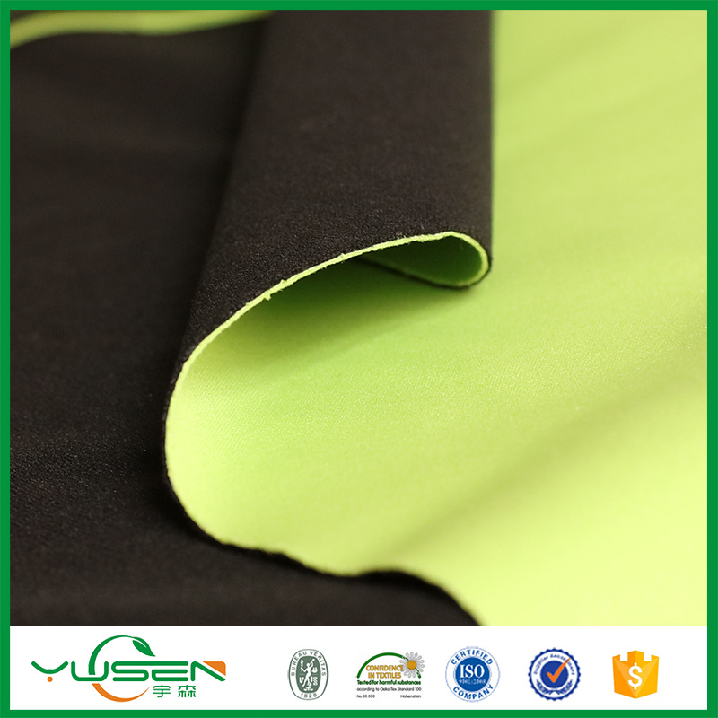 Polyester Tricot Mesh Fabric Bonded Polar Fleece and White TPU Laminted