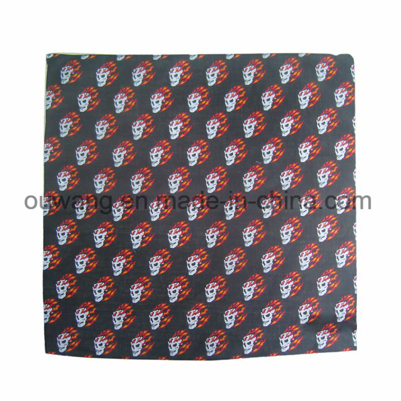 Custom Multifunctional Fishing Mask Promotional Square Bandana Paisley Cotton Printed Handkerchief