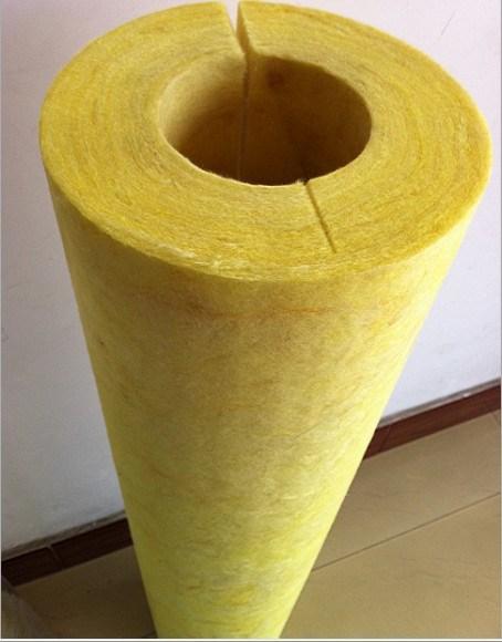 Fiberglass Heat Fiber Glass Wool Pipe Insulation Material