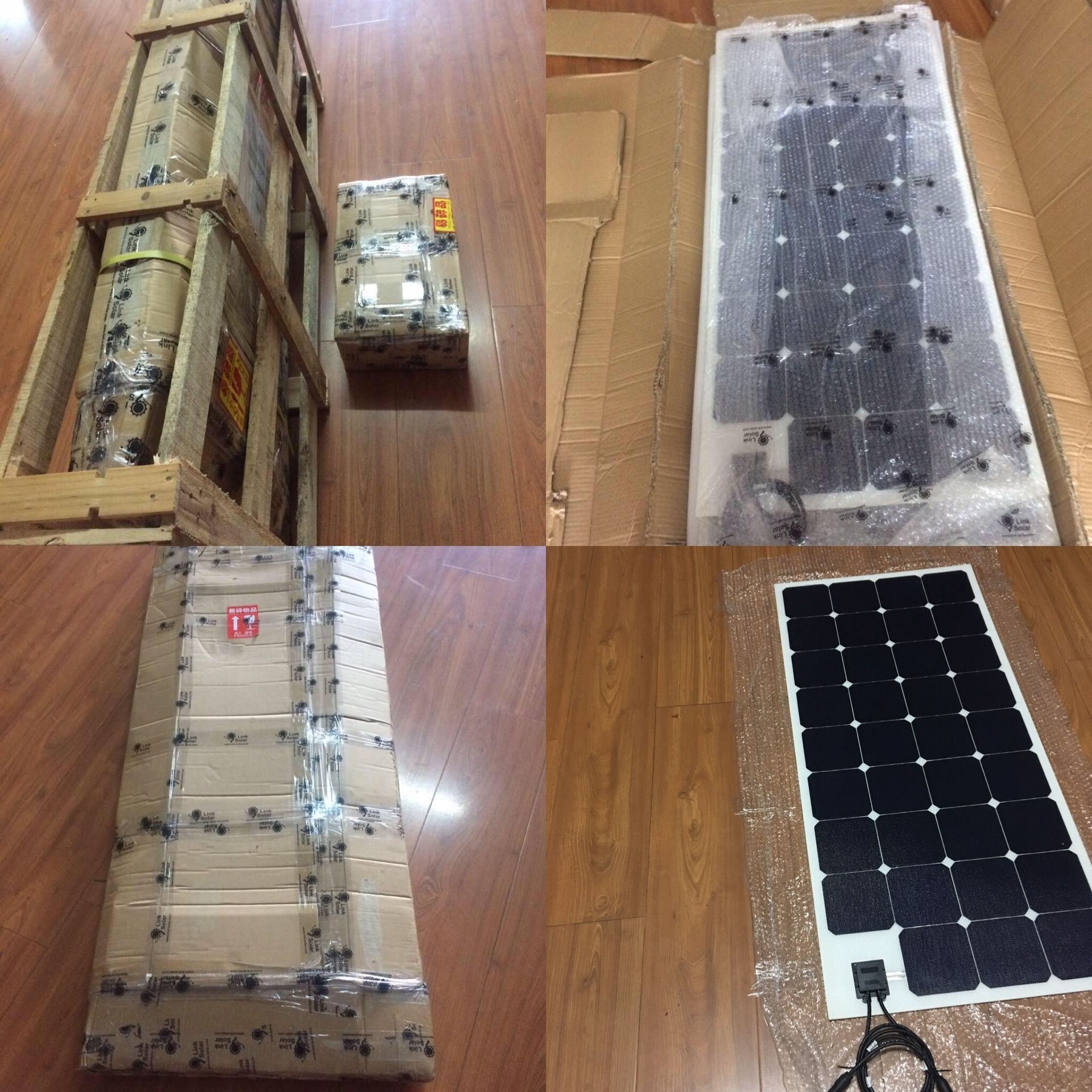 Best Sale 100W Sunpower Semi Flexible Solar Panel with ETFE Technology
