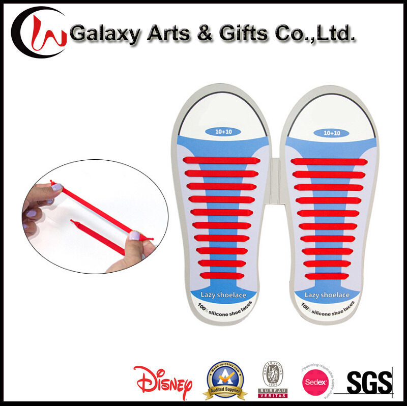 No Tie Colourful Lazy Elastic Flat Sneakers Shoelaces Silicone