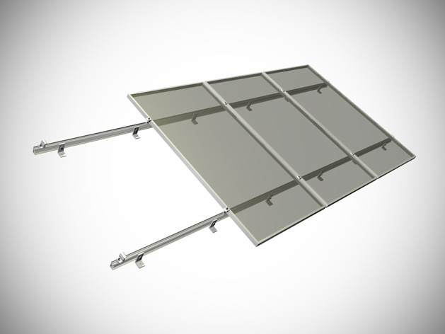 Steel Pile Ground Solar Mounting System for PV Station
