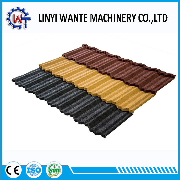 Chinese 1340X420X0.4mm Classic Stone Coated Roof Tiles