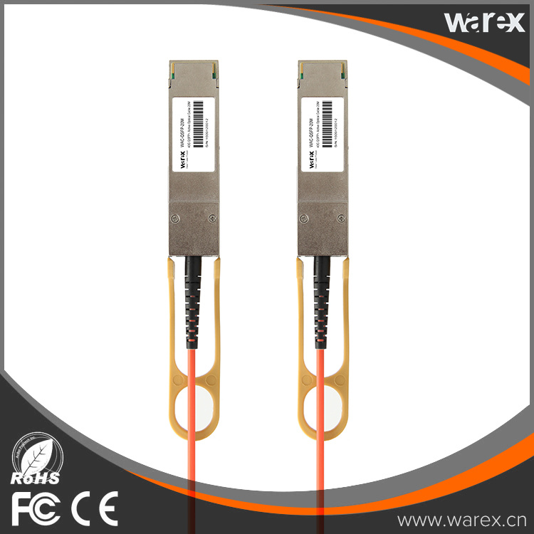QSFP-H40G-AOC20M Compatible 40G QSFP+ Active Optical Cable With High Quality