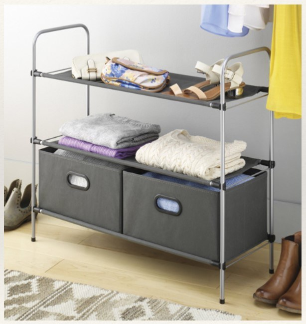 Storage Shelf with Two Drawers