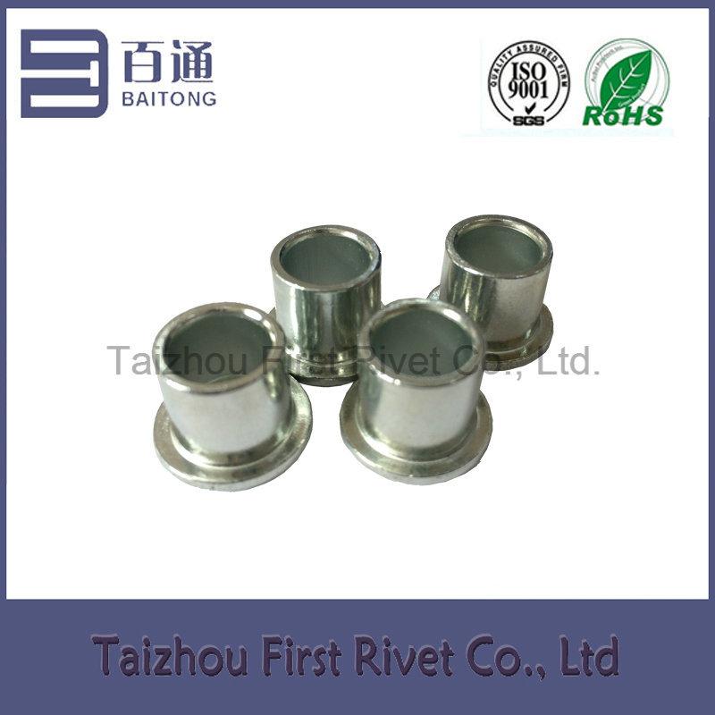 8X7.3mm White Zinc Plated Flat Head Full Tubular Steel Rivet