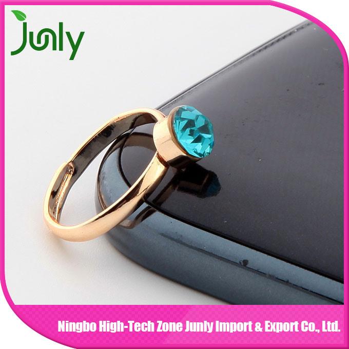 Fashion Popular Big Gold Gemstone Ring Princess Ring