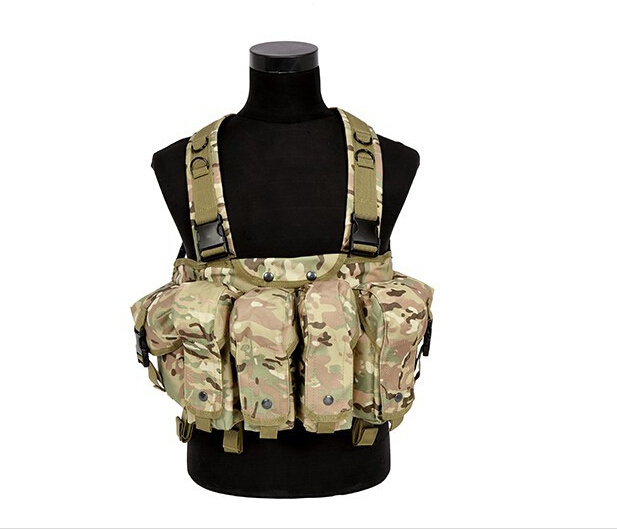 Tactical 4 Pouches Magazine Carry Chest Rig Vest
