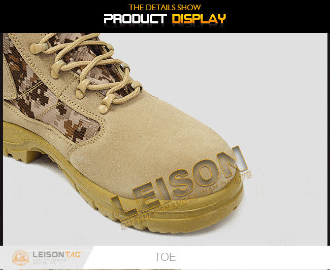 Military Tactical Boots with Military ISO Standard Desert Boot